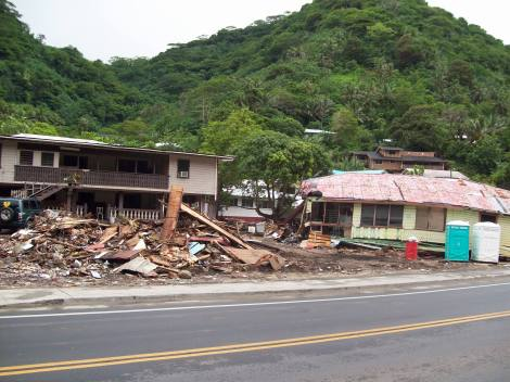 Tsunami damage