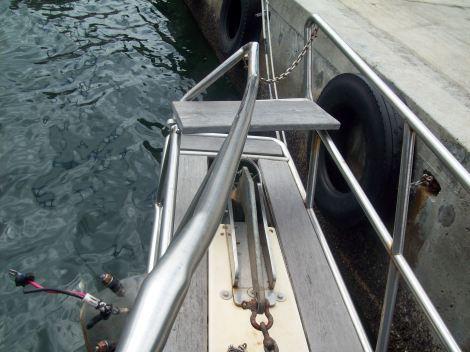 Damaged bow sprit