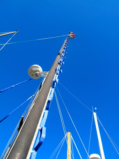 Frank at the top of the mast