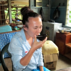 Jenny non too sure about this kava!
