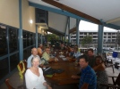 Farewell drinks in Port Moresby with rally group