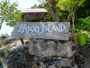 Hoga Island sign
