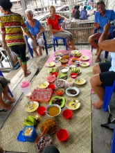 Our feast at Sampela