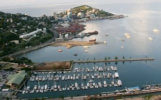 Port Moresby and the Royal Papua Yacht Club