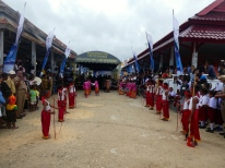 Dancers at the Welcome ceremony