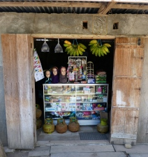 The shopfronts displayed a mixture of goods for sale