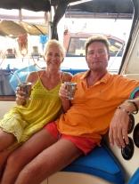 Margret & Nils enjoying Pina Colada's on SE2
