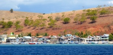 Quaint island village on way to Rinca