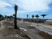 The road along the Kuta Beachfront- all dug up!