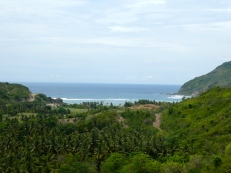 Scenic coast road from Kuta