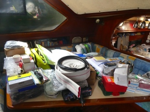 Just some of the boat gear we hauled back from Brisbane
