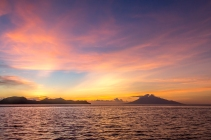Sunset over North Gili Banta