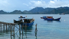 View from Balai with hills of nearby islands in Natuna