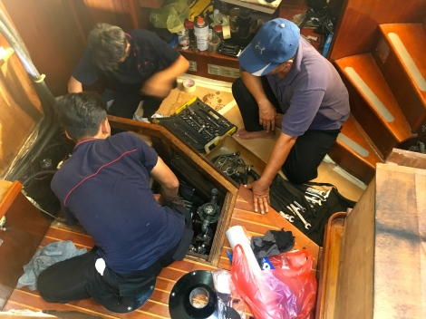 boys preparing removal